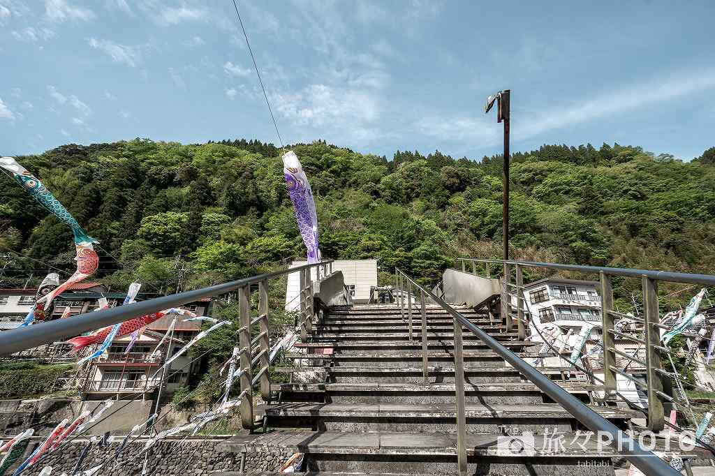 杖立温泉の杖立橋