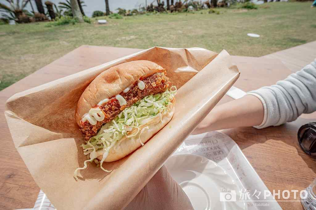 都井岬パカラパカで販売しているパカラバーガー