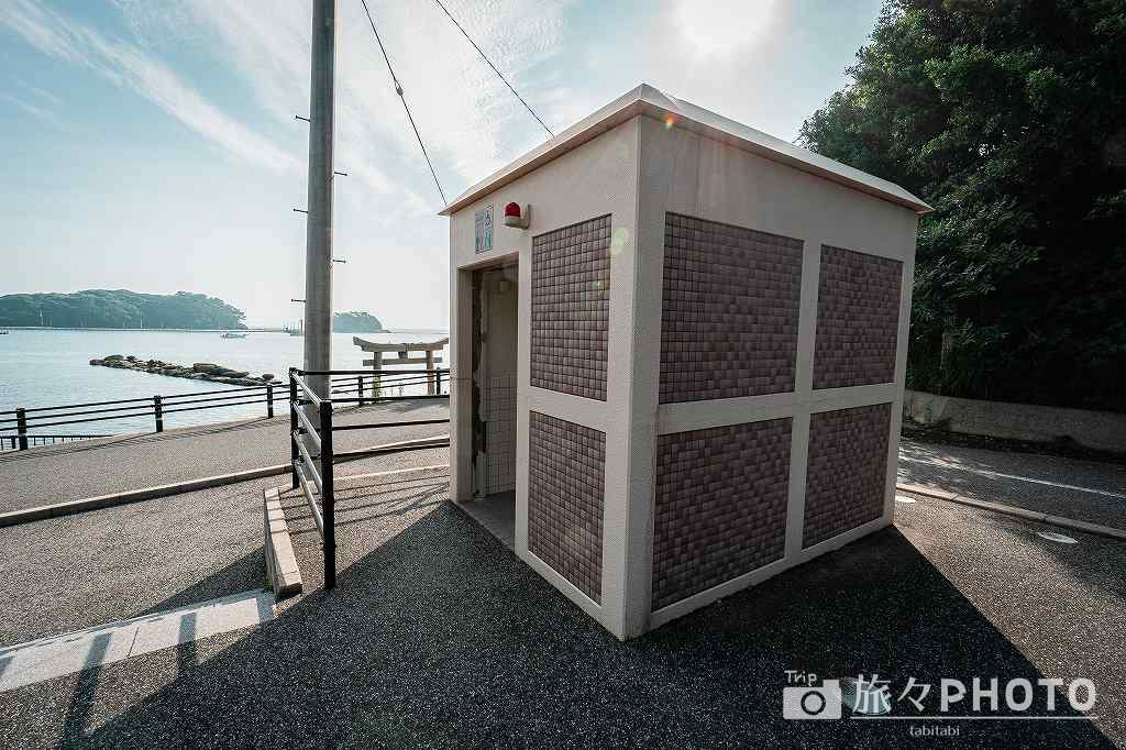 なみかけ遊歩道駐車場のトイレ