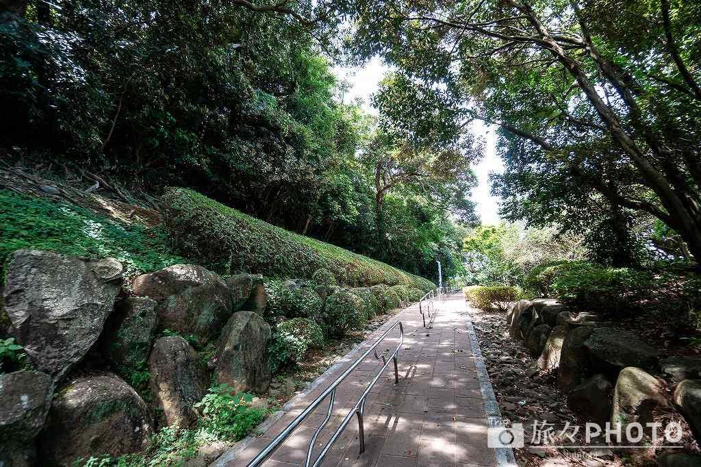 平戸城へ向かう道