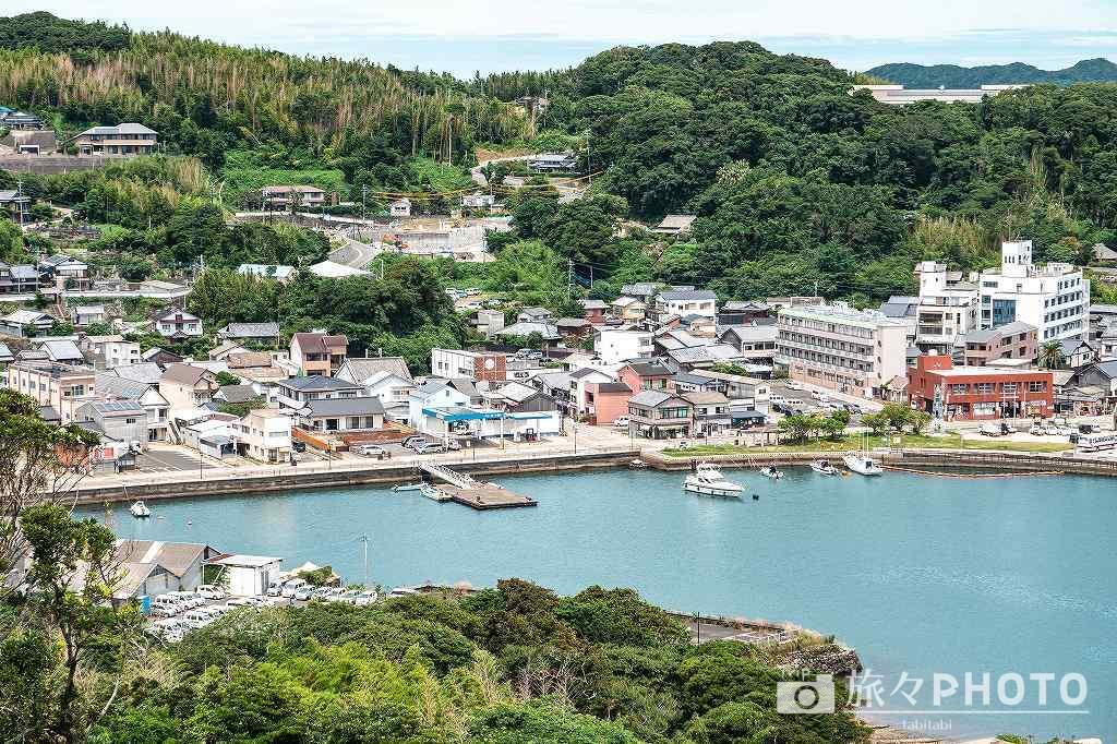平戸城の天守閣からの眺め