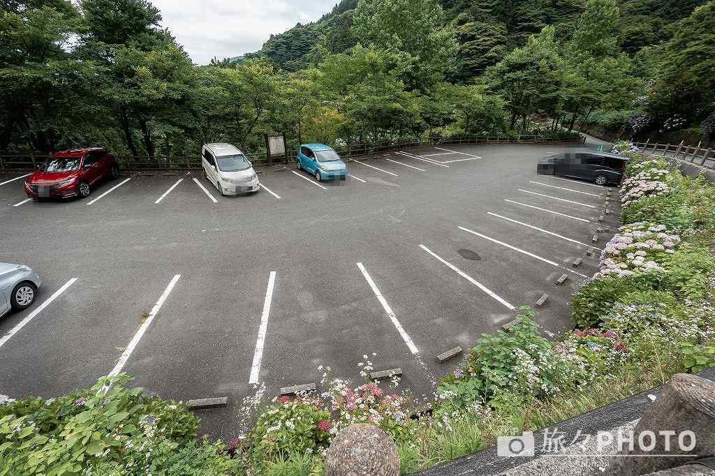 白糸の滝 駐車場